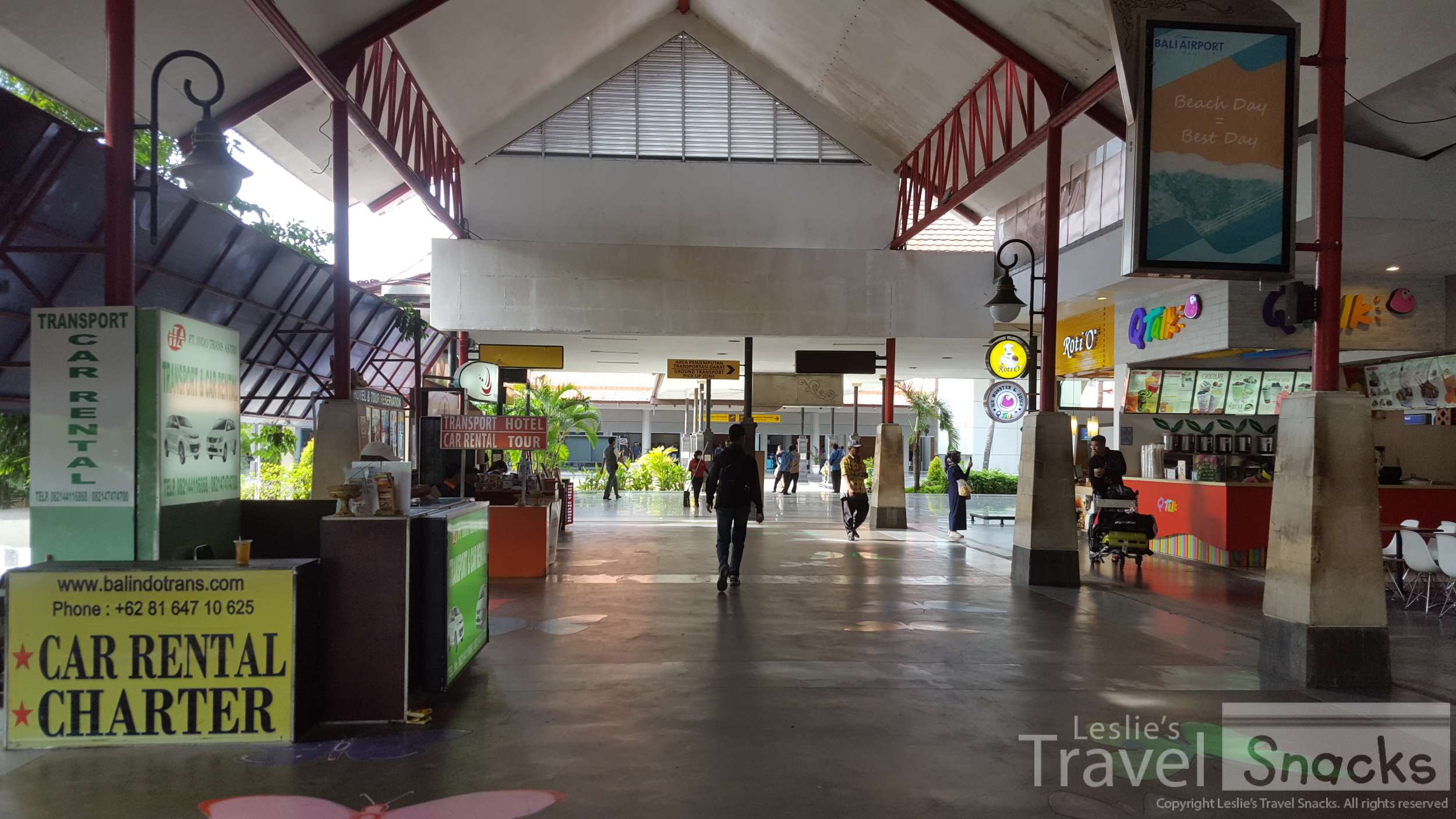 The domestic terminal at Denpasar airport. There is a free golf cart that will take you between domestic and international.