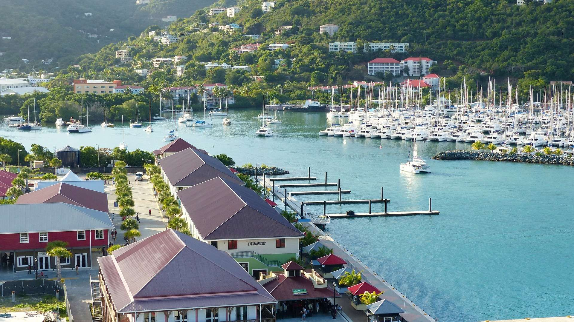 Road Town, Tortola, BVI. More than one way to get there!