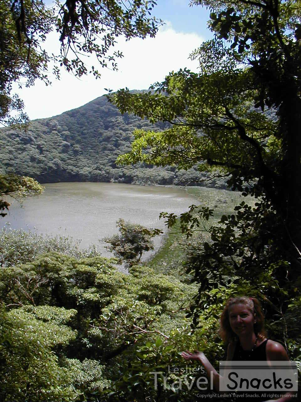 Hiked up to the peak of Omotepe to the lake on this island within a lake.