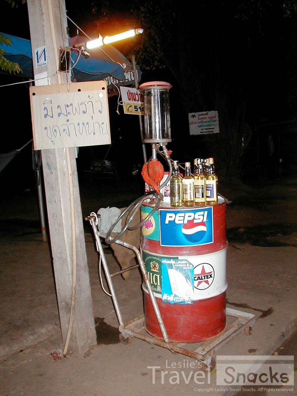 This is a typical Thai petrol station. LOL