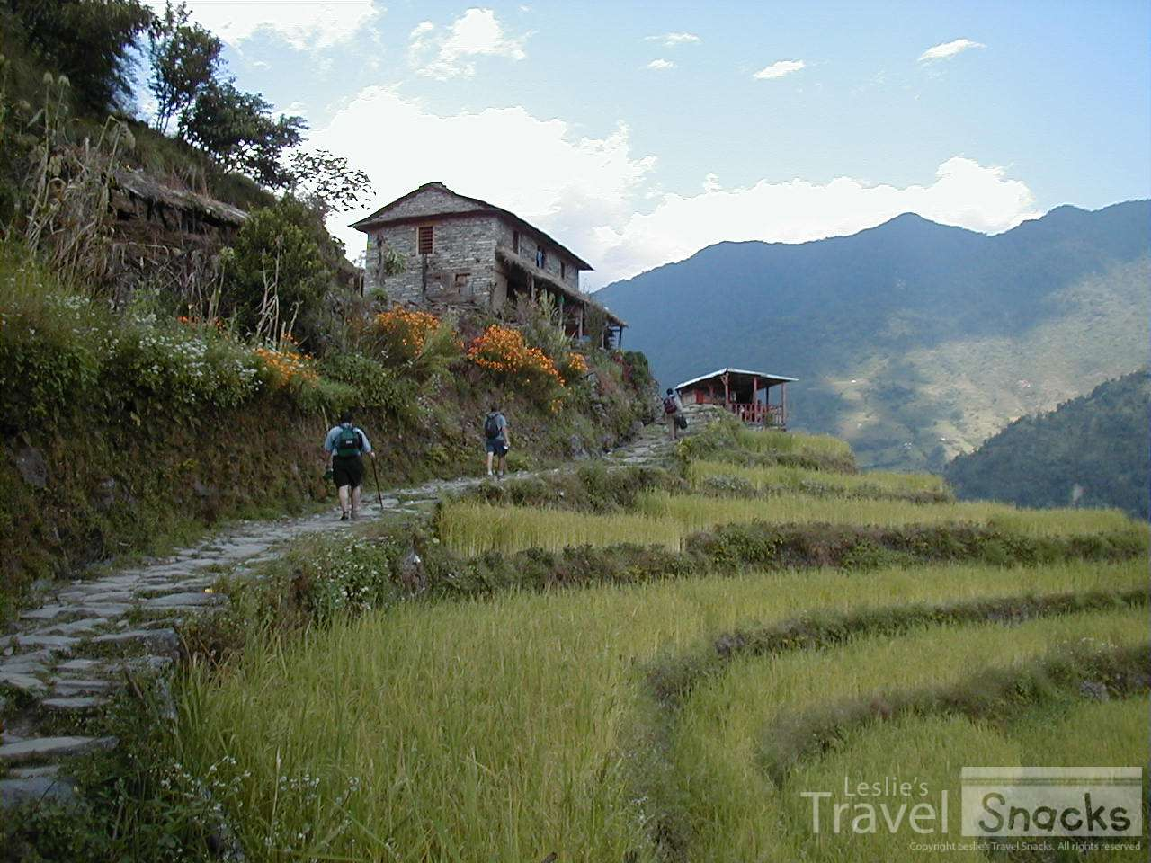Trekking in Nepal is much easier than I though! LOL Especially when you have a porter to carry your bag.
