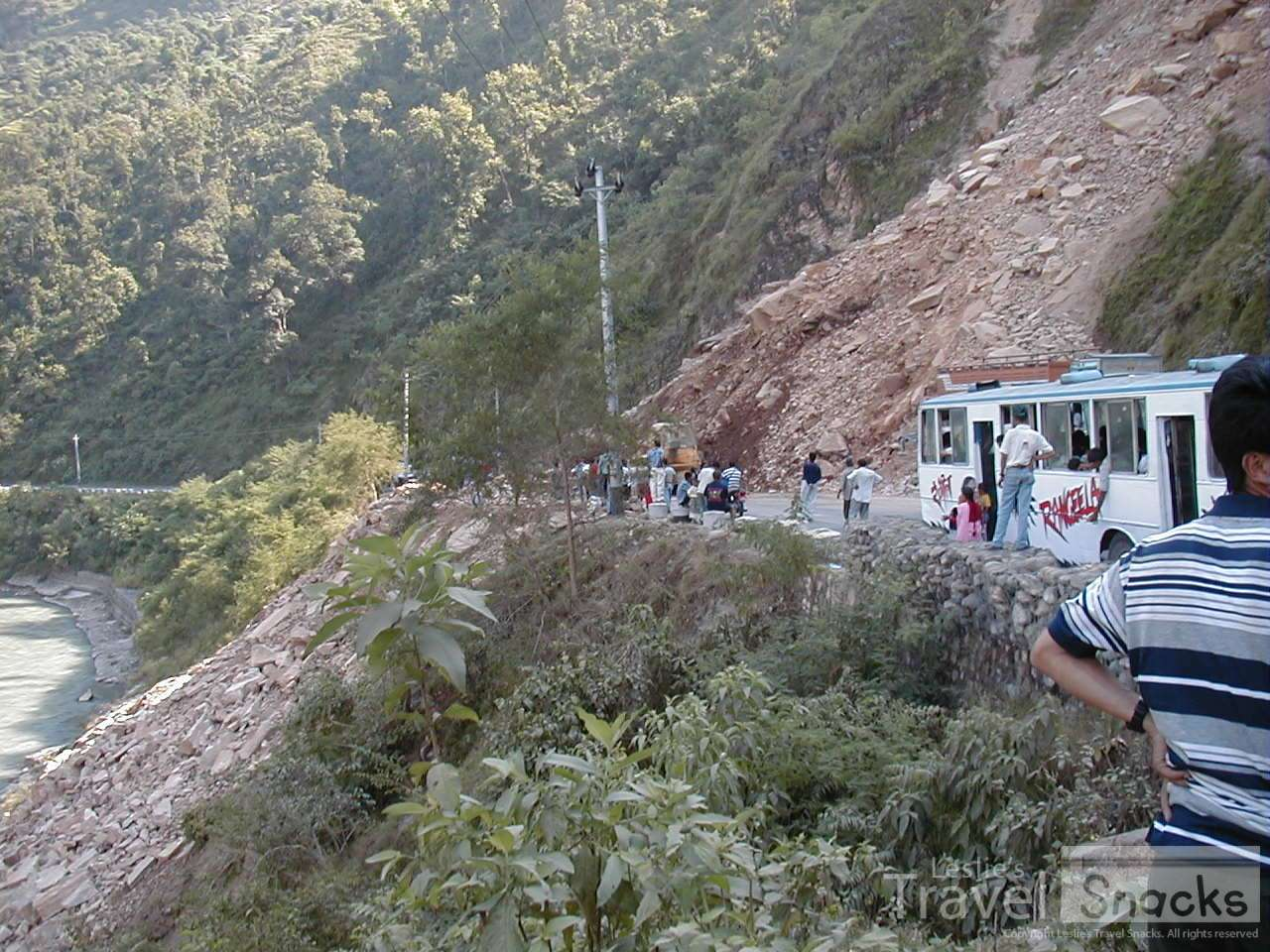 This landslide help up my bus for many hours when I was heading back to Kathmandu to meet back up with the guys.