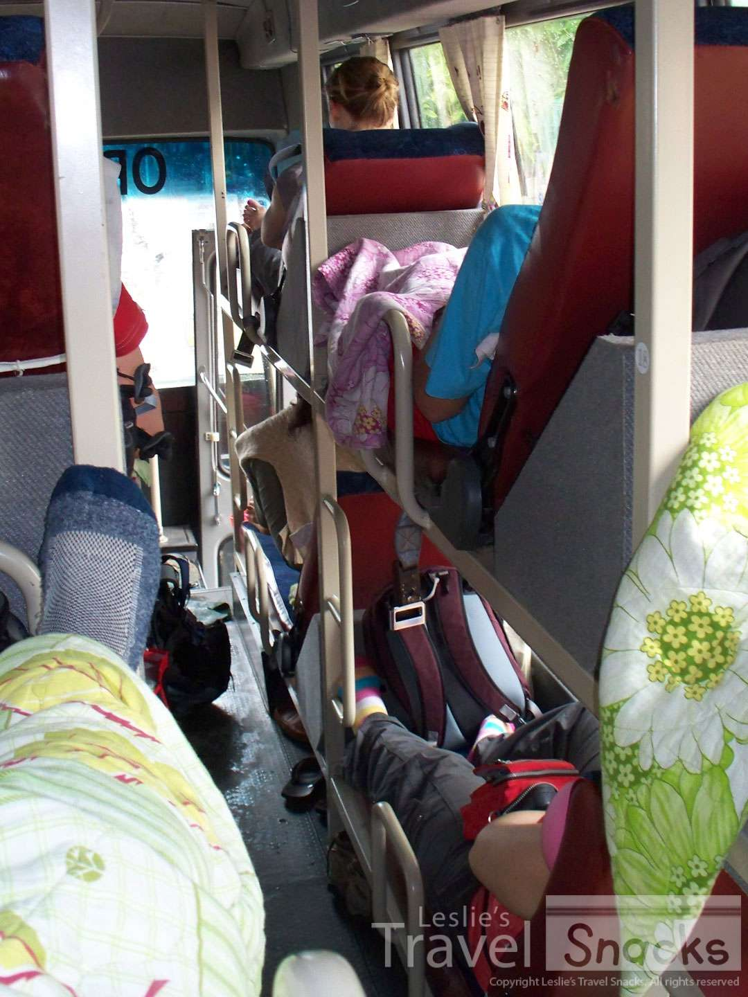 I love the sleeper bus in Veitnam! You actually have a bed of sorts.