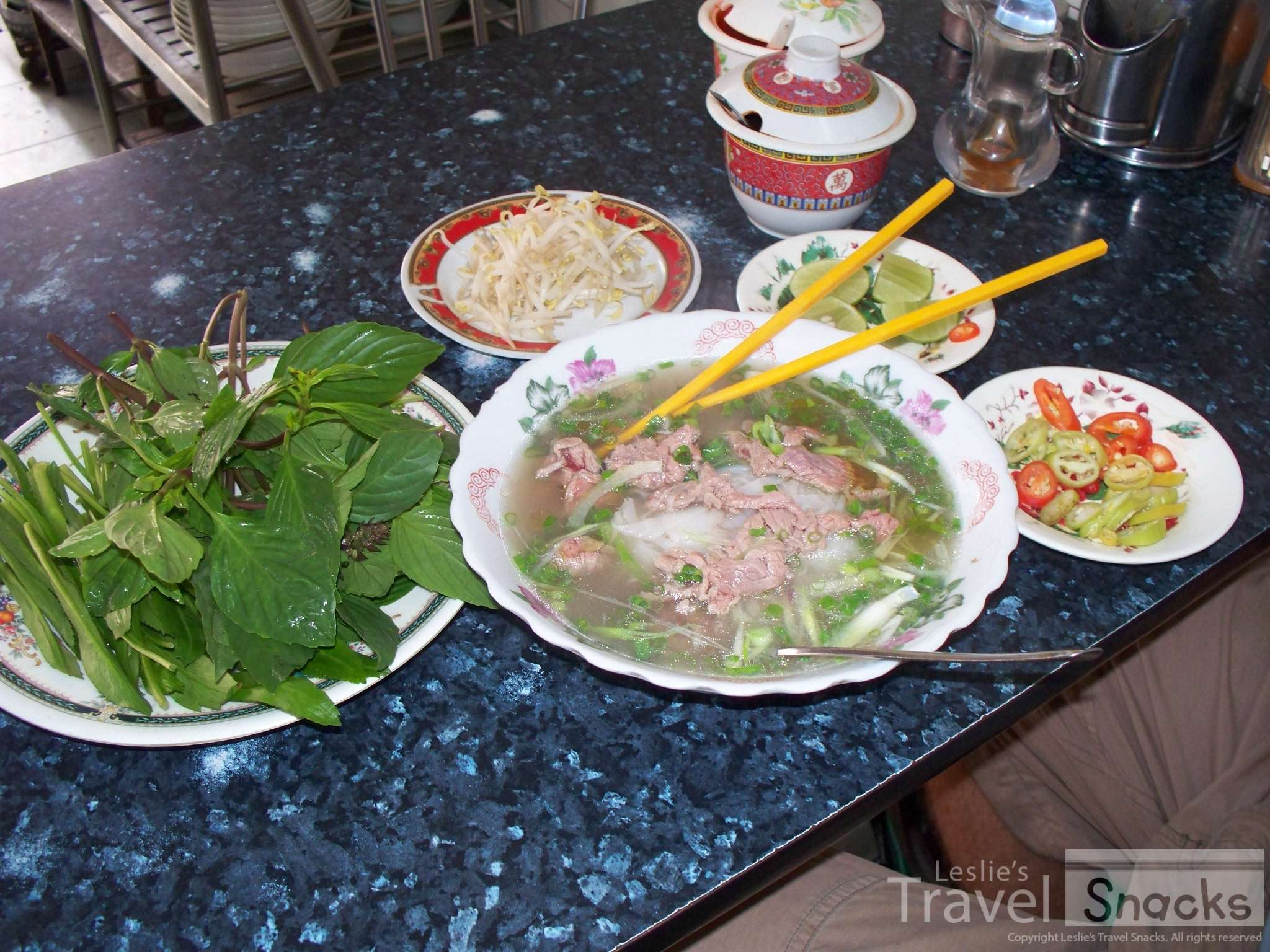 Pho is everywhere, and even vegetarian pho in some places.