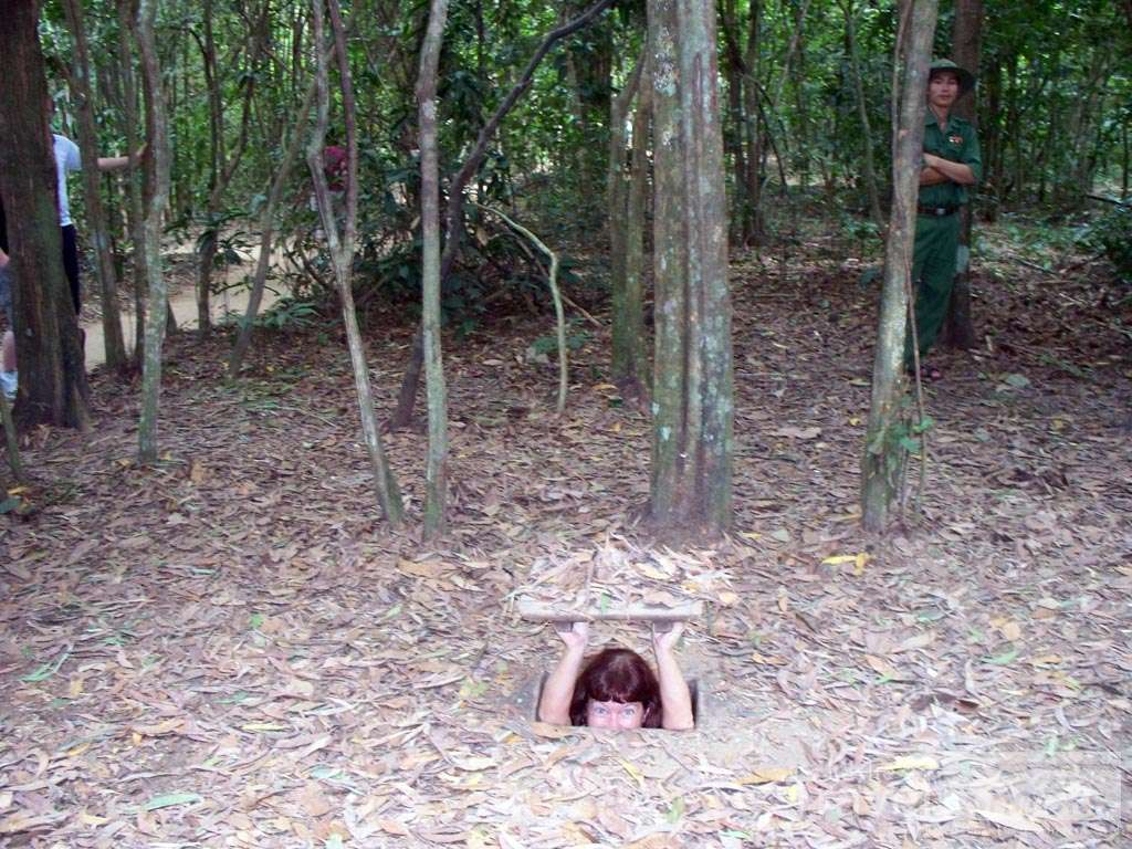 Cu Chi Tunnels. The stories from here are amazing. And they sure do like to tell it from the anti-American viewpoint.