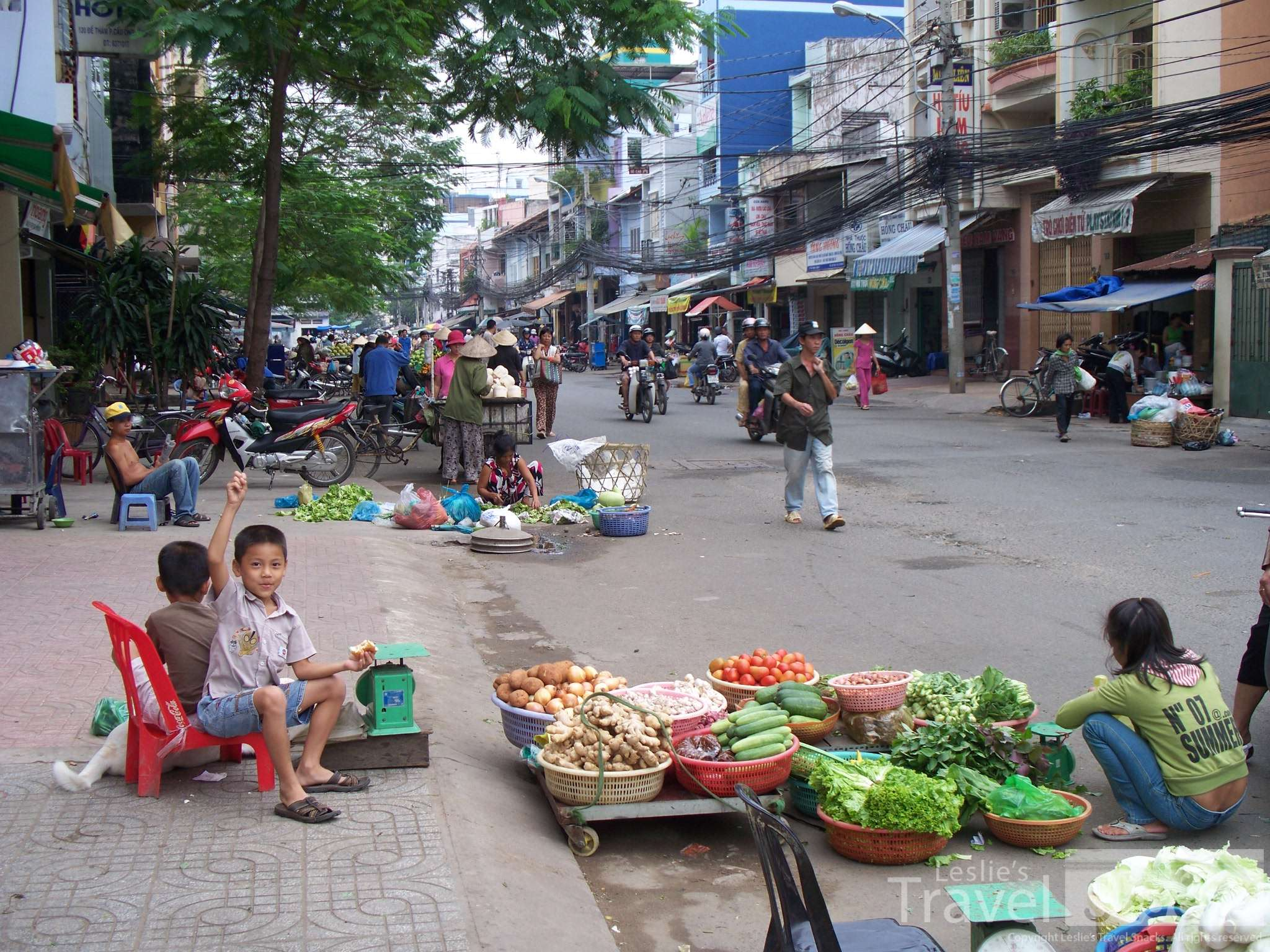 Just another busy street in Saigon.