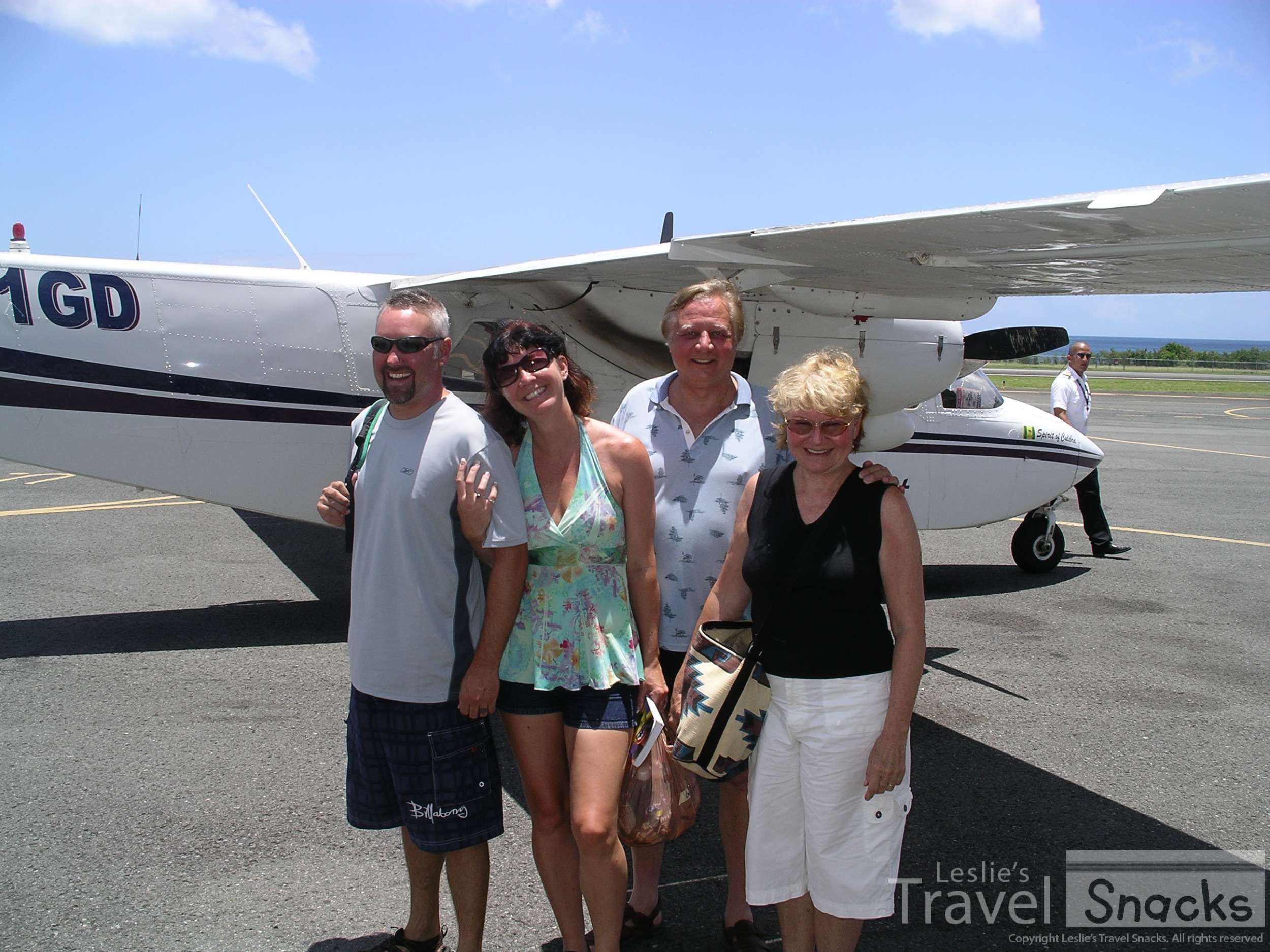 About to get on the small plane over to Culebra.