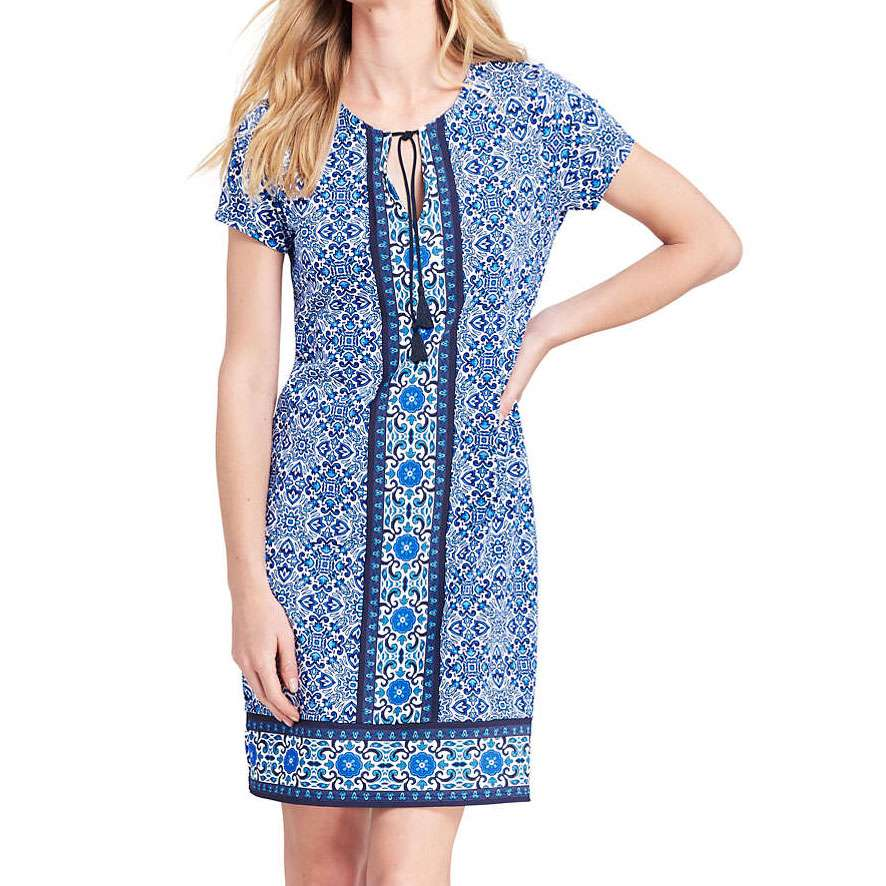 Lands End Notch dress is a quality functional travel dress.