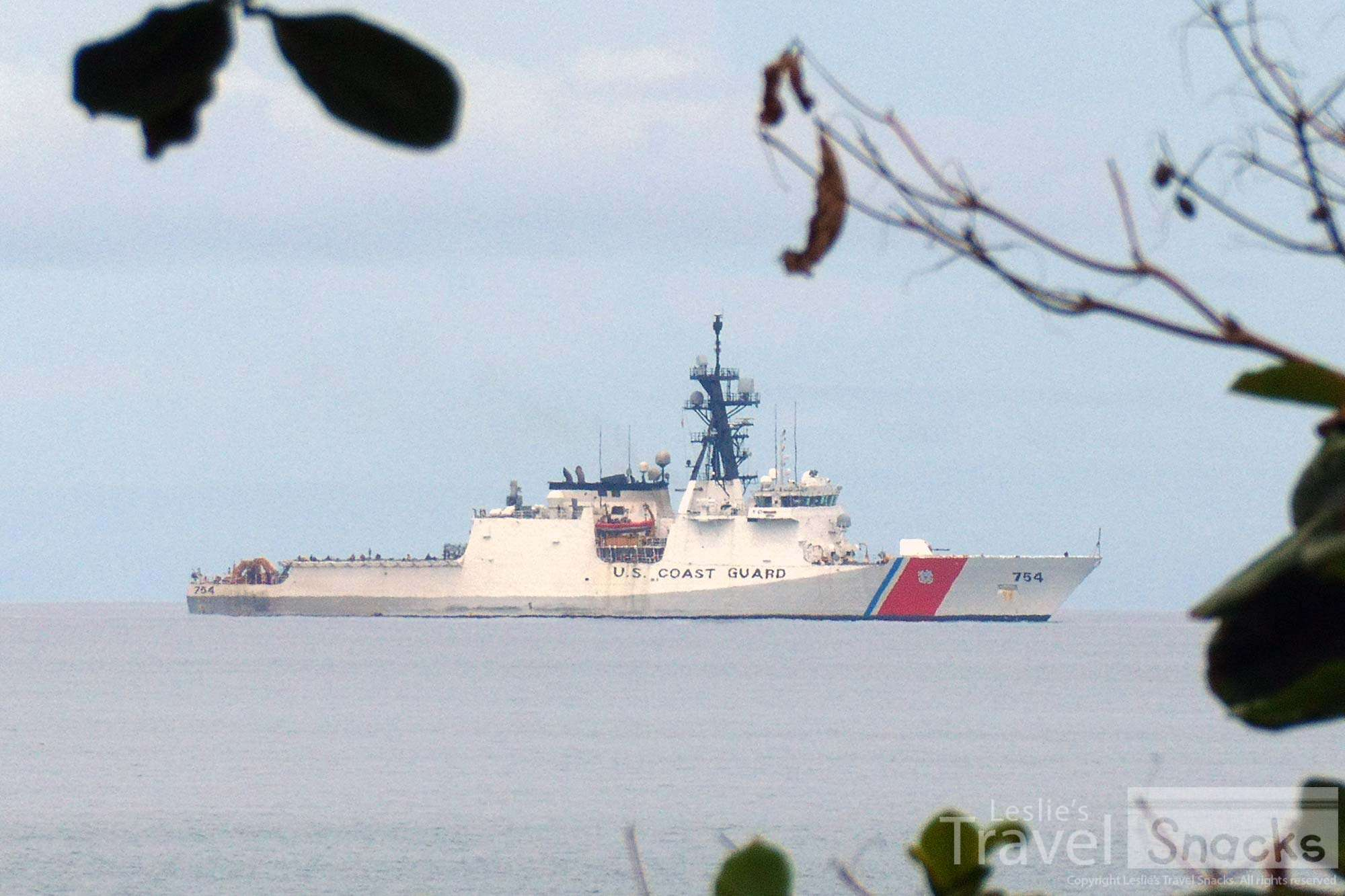 U.S. Coast Guard ship in the Gulfo Dulce.