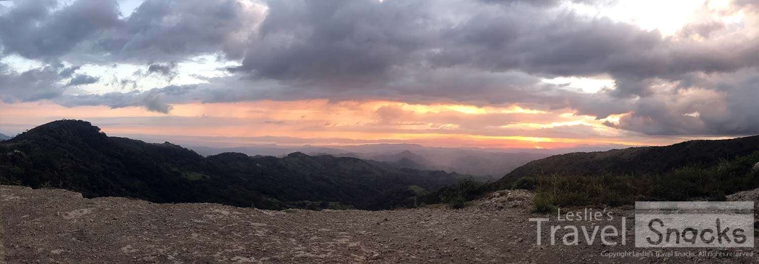 My first trip up to Monteverde / Santa Elena in 18 years, the shuttle driver stopped part way up the mountain so I could see the sunset.