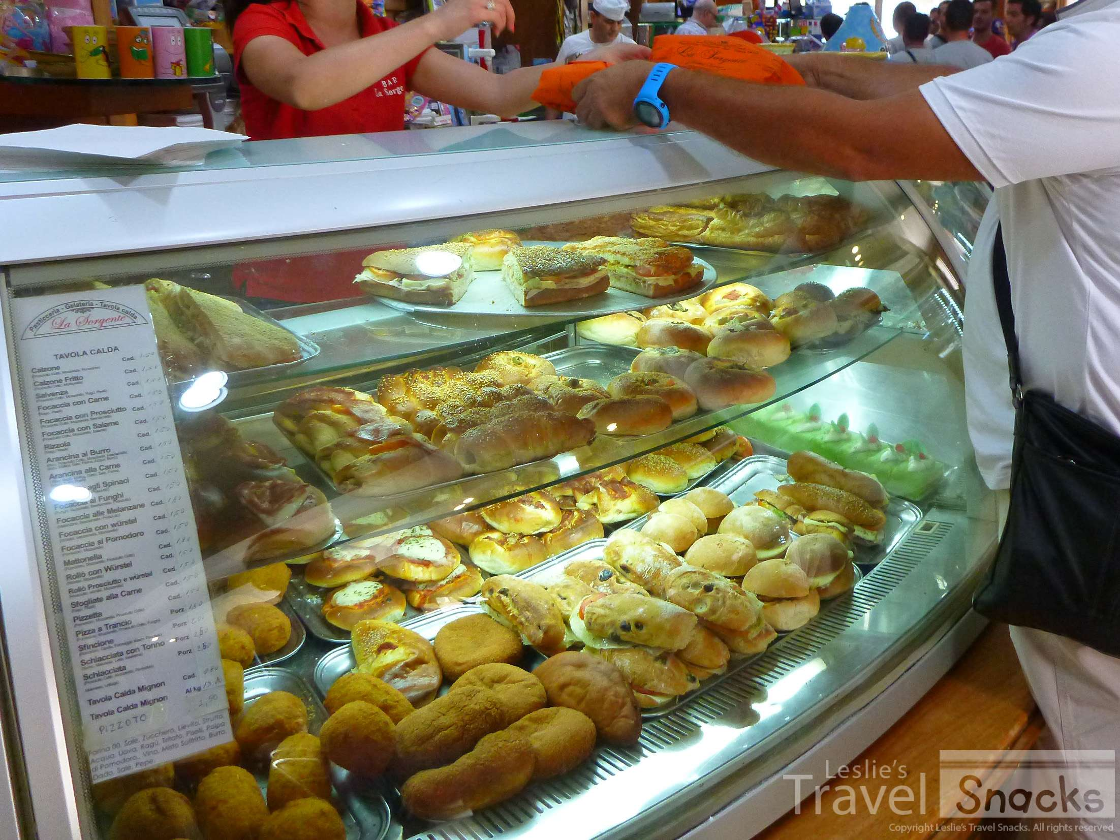 Bakeries can be a great place to find inexpensive pastries filled with cheese or vegetables. Okay, and maybe a few sweets, too. ;)