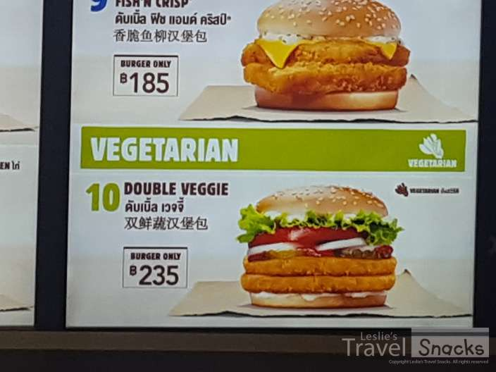 Fast Food chains (this is Burger King in Thailand) has a veggie option. In a pinch ....