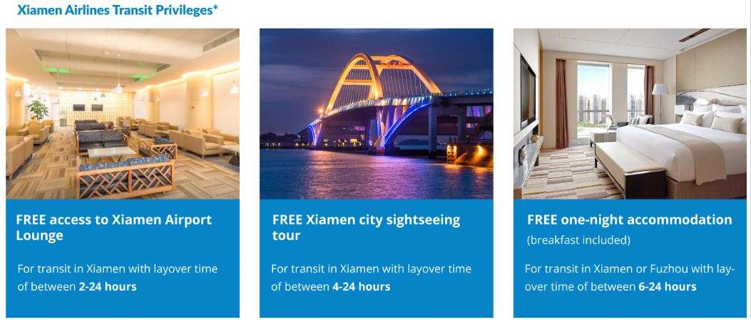 What to do during your long layover with Xiamen Airlines? You have free options!