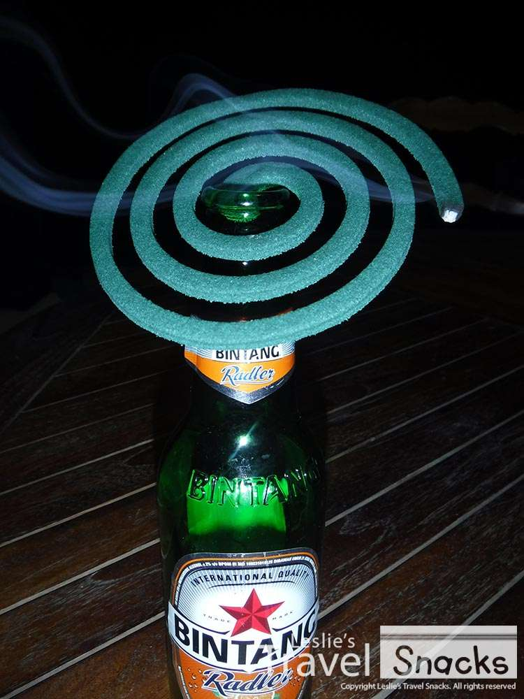 No mosquito coil stand? Well for sure you have an empty bottle lying around!